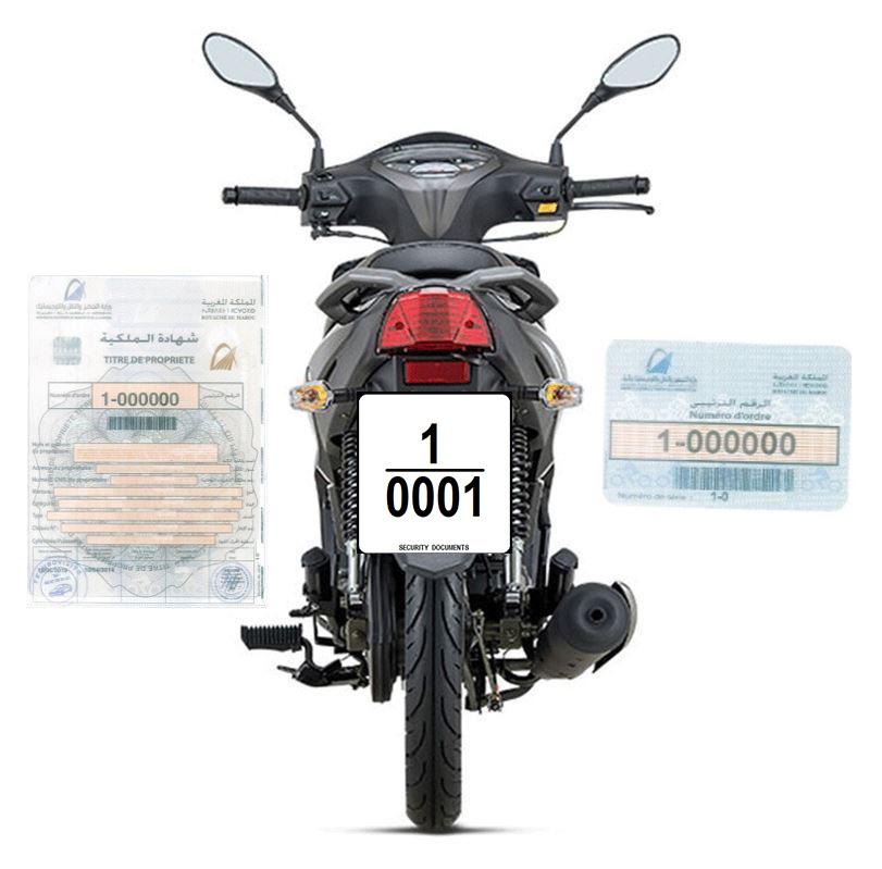 Procedure relative a l'immatriculation des cyclomoteurs, motocycles, tricycles a moteur et quadricycles a moteur